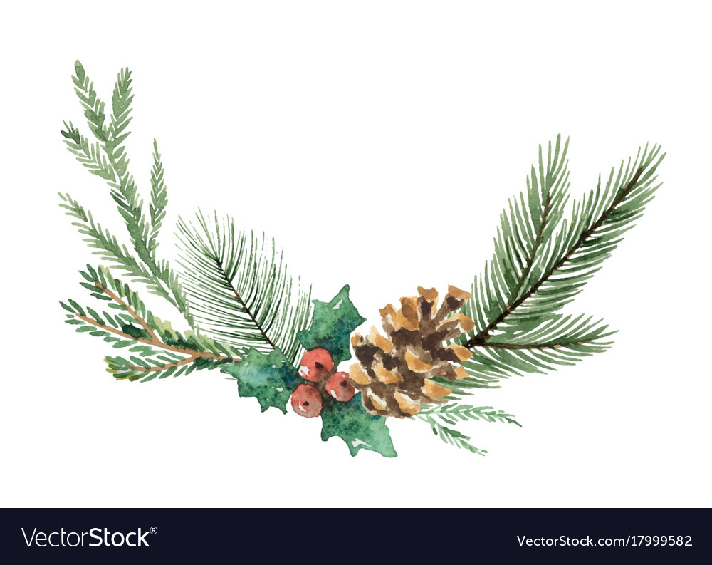 watercolor christmas wreath with fir royalty free vector candy cane clipart free free candy cane clipart images