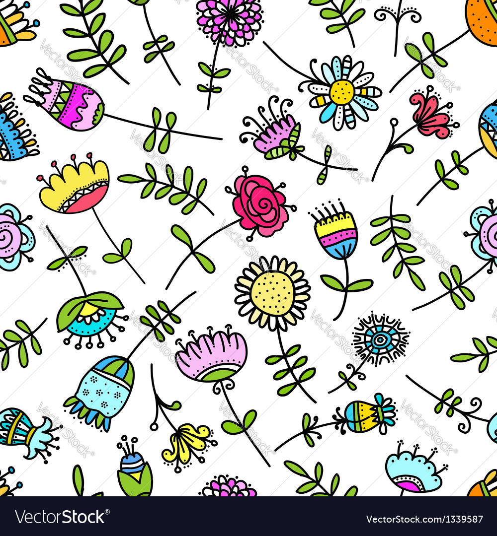 Abstract floral pattern for your design