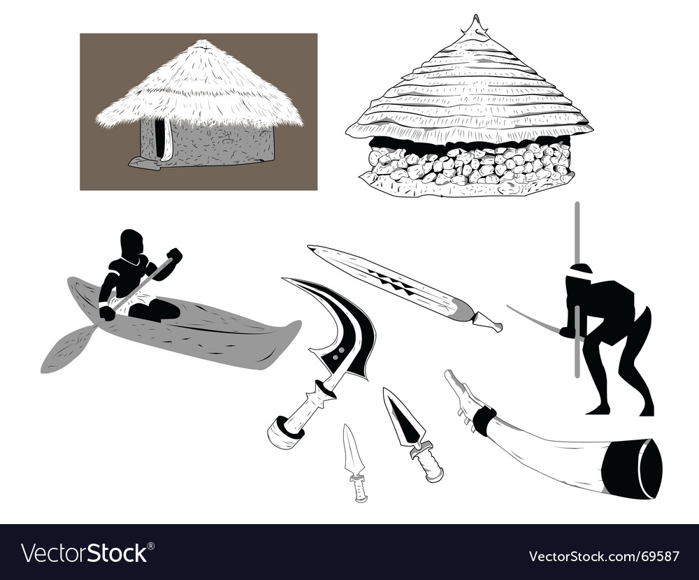 African lifestyle vector image