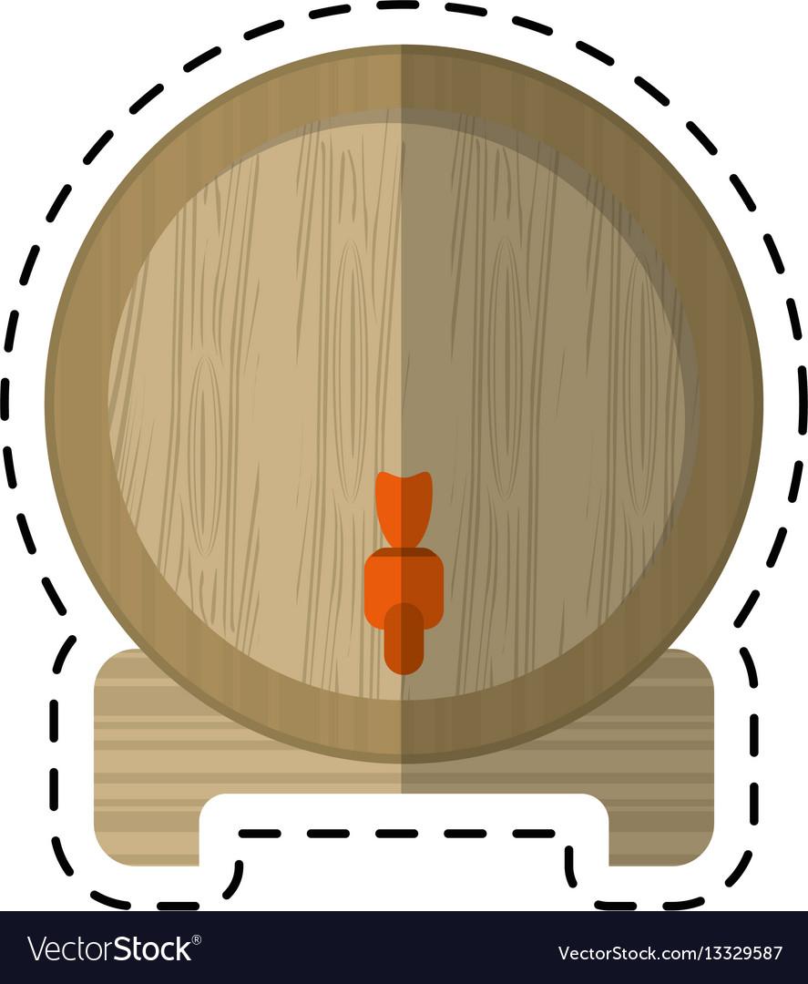 Cartoon wine barrel faucet wooden Royalty Free Vector Image