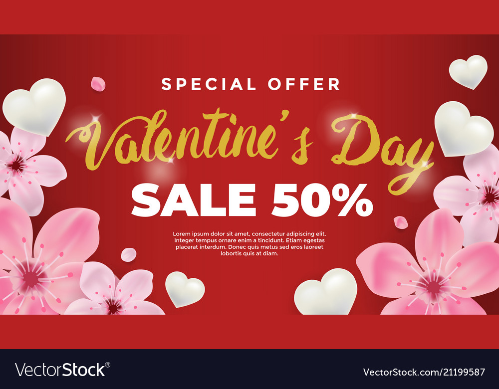 Happy valentines day background design wallpaper vector image