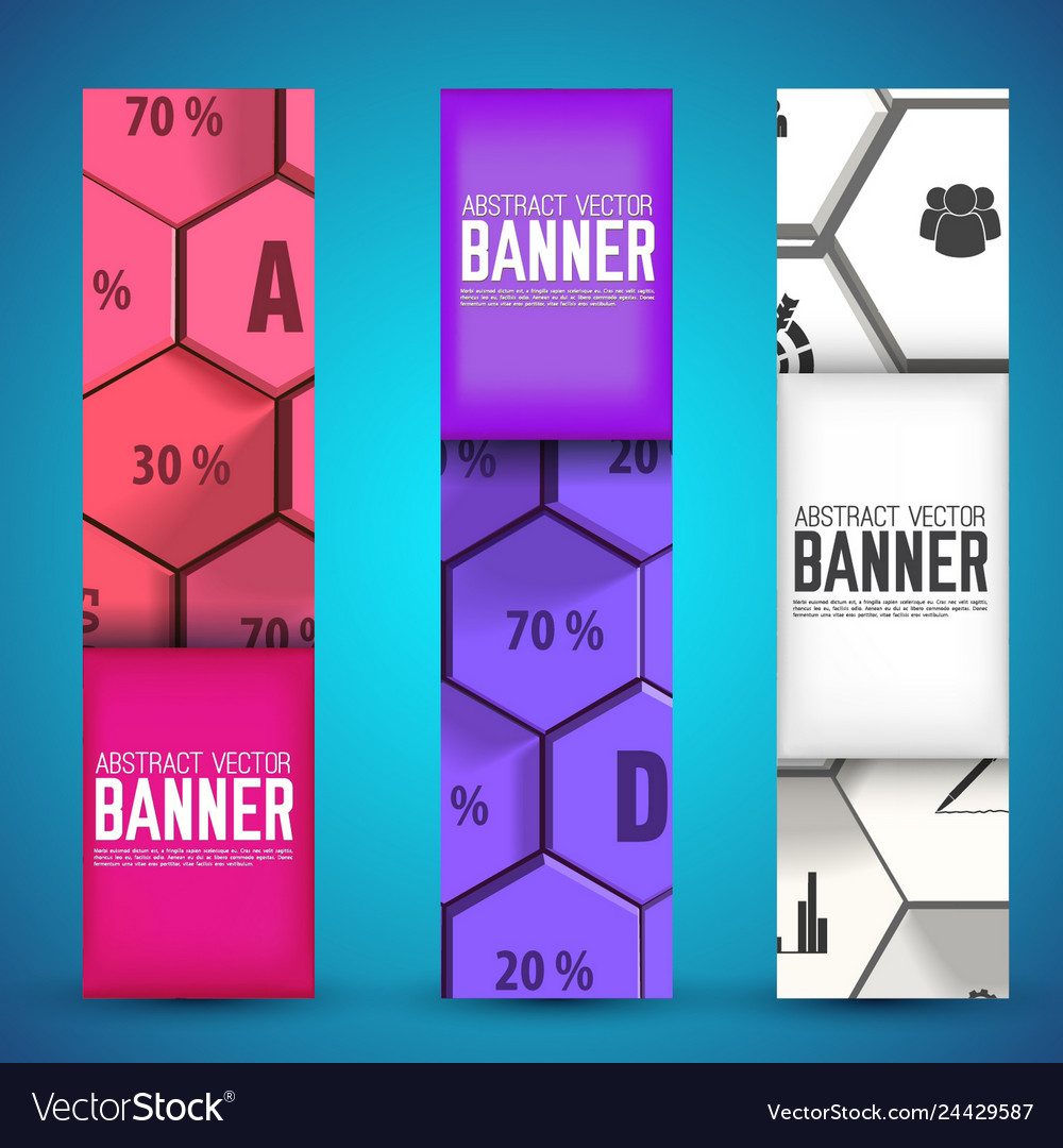 Infographic web geometric vertical banners