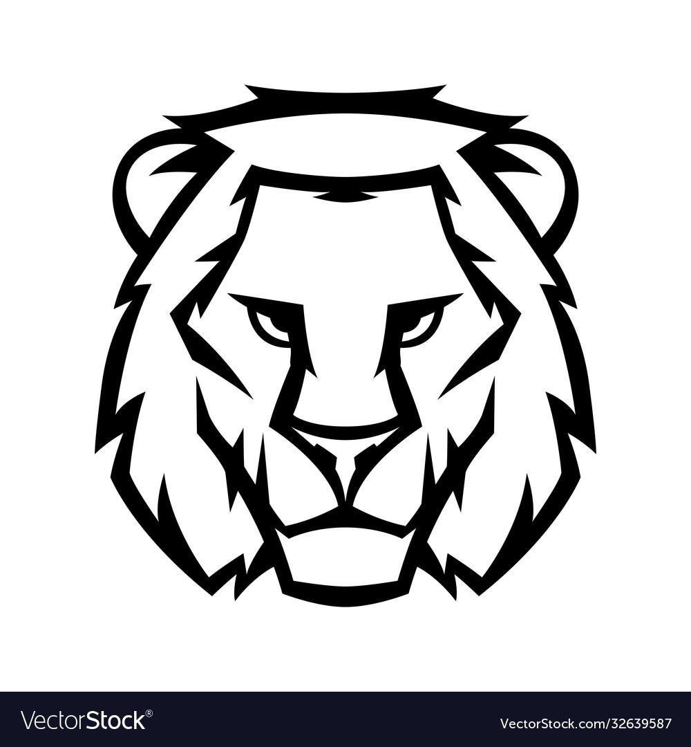 Mascot stylized lion head