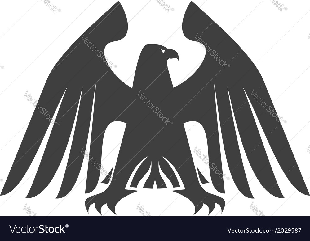 Silhouette of a majestic eagle vector image