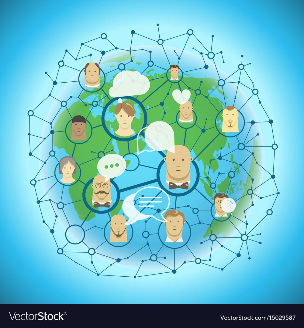 Social media network concept abstract
