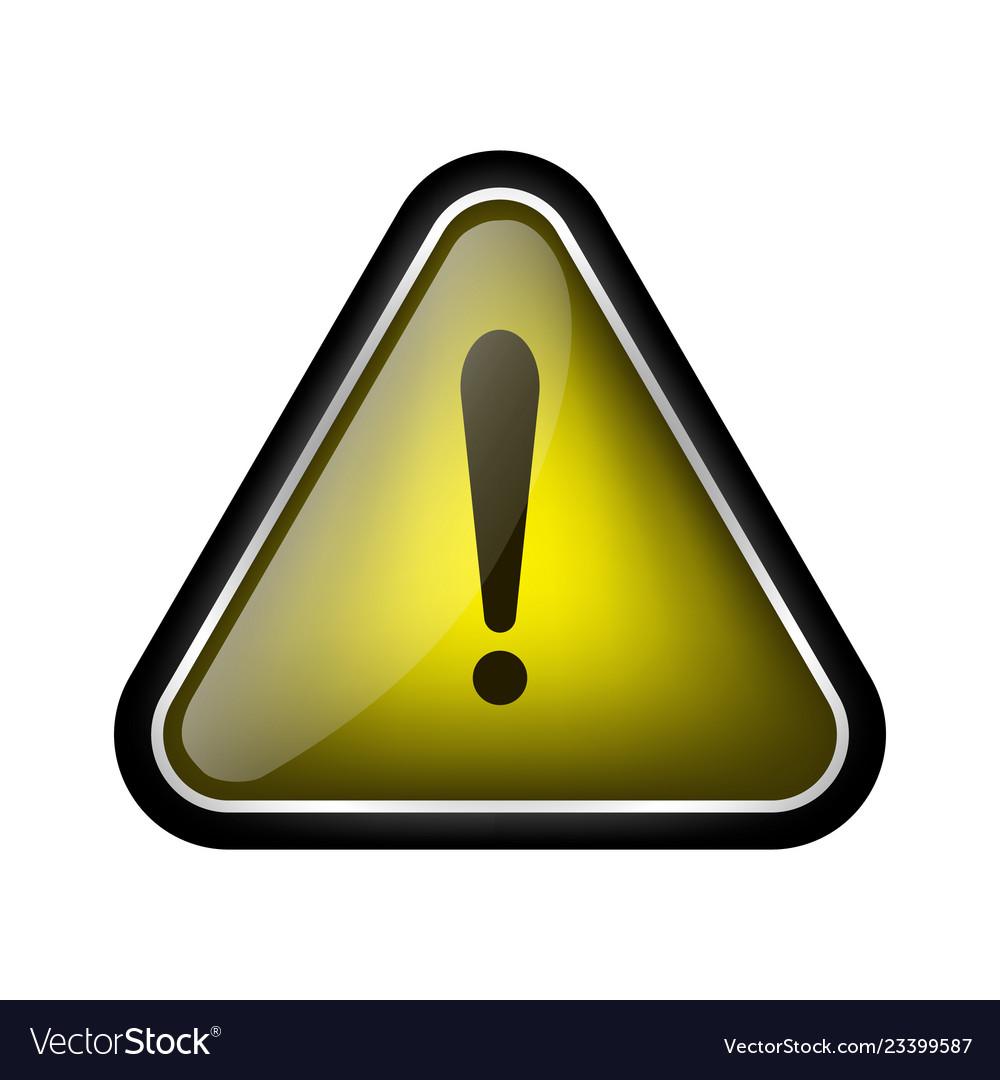 Warning sign isolated on white background