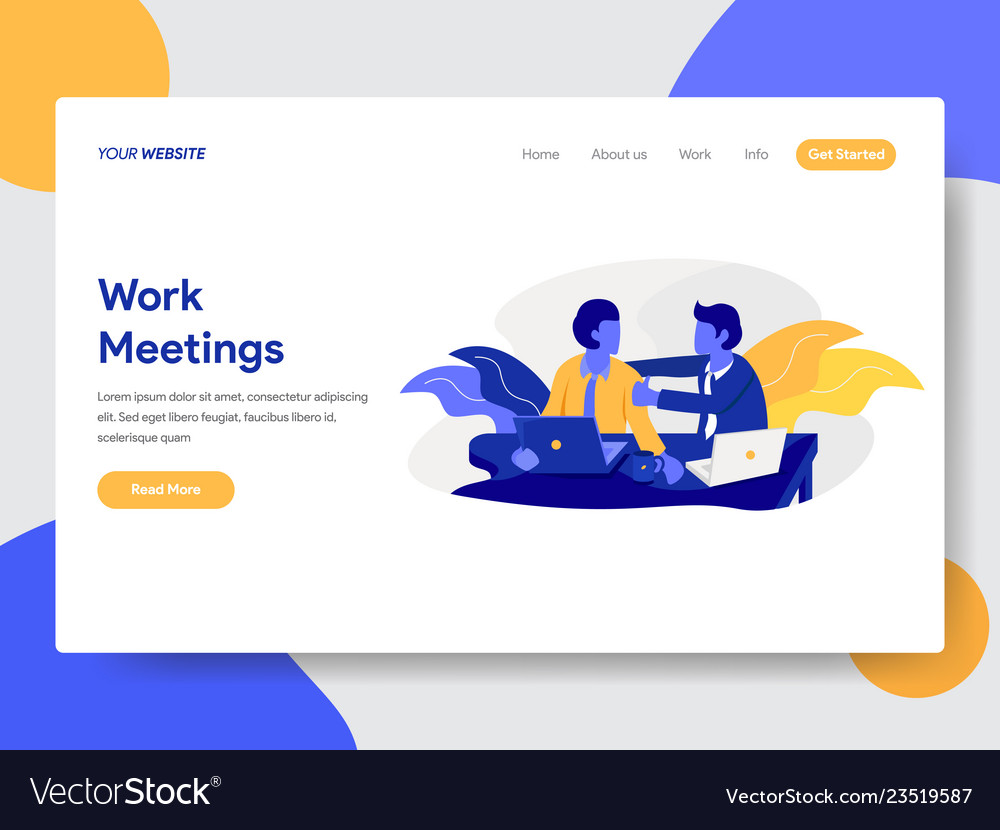 Work meeting and discussion concept