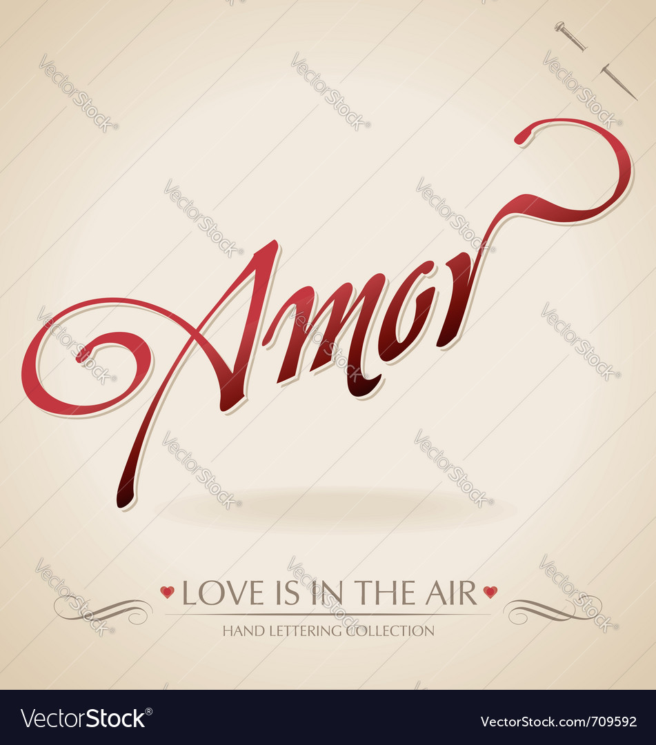 Amour hand lettering