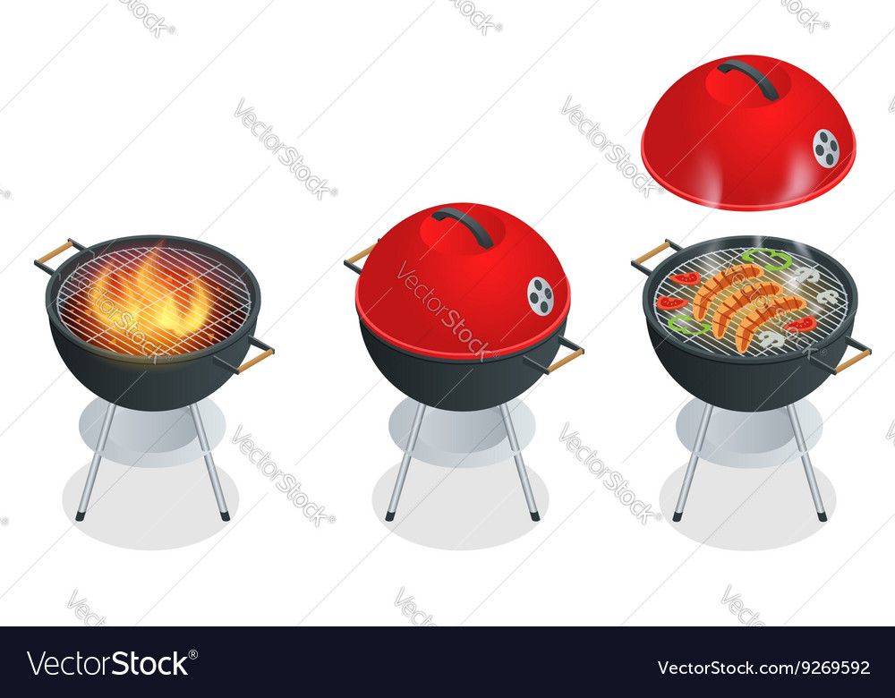 Barbecue design elements and barbecue grill summer