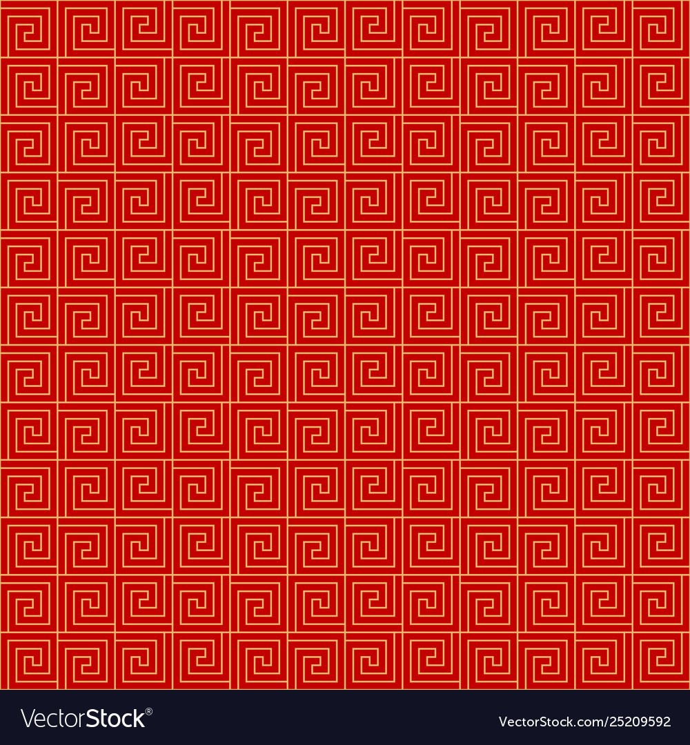 Chinese seamless pattern red and golden chinese