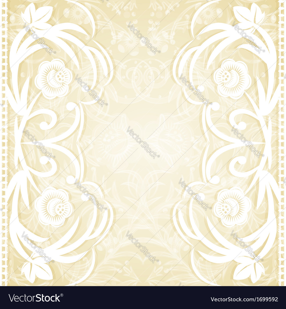 Delicate lace wedding invitation Royalty Free Vector Image