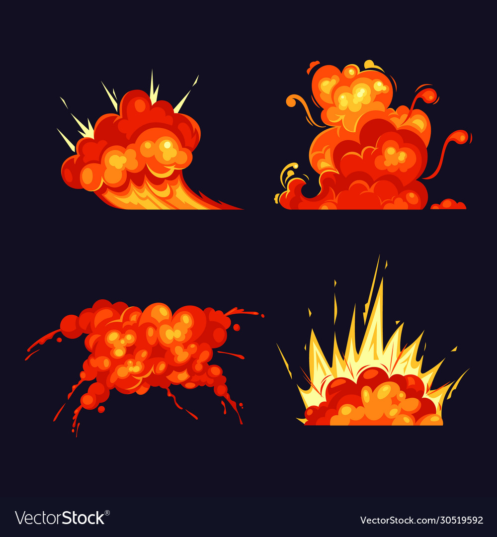 Fire blasts explosion bursts flame and smoke
