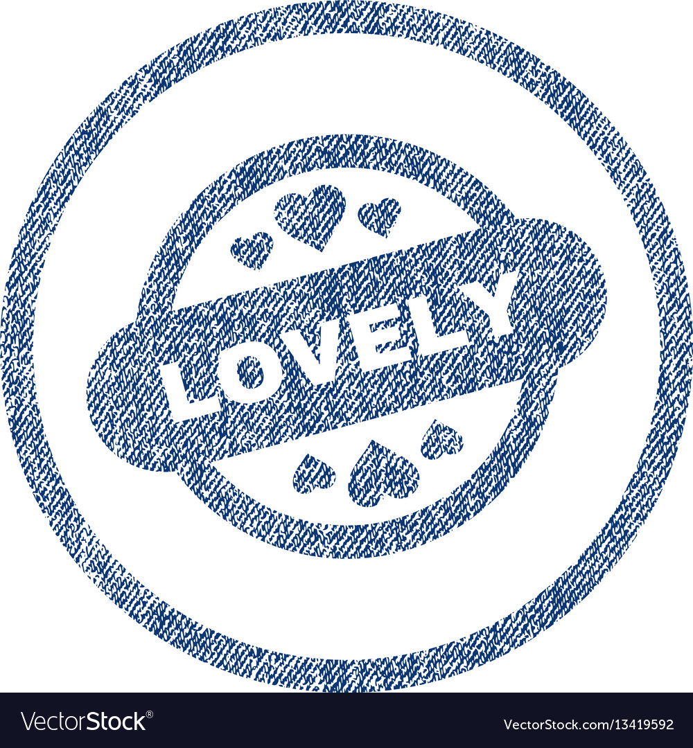 Lovely stamp seal rounded fabric textured icon