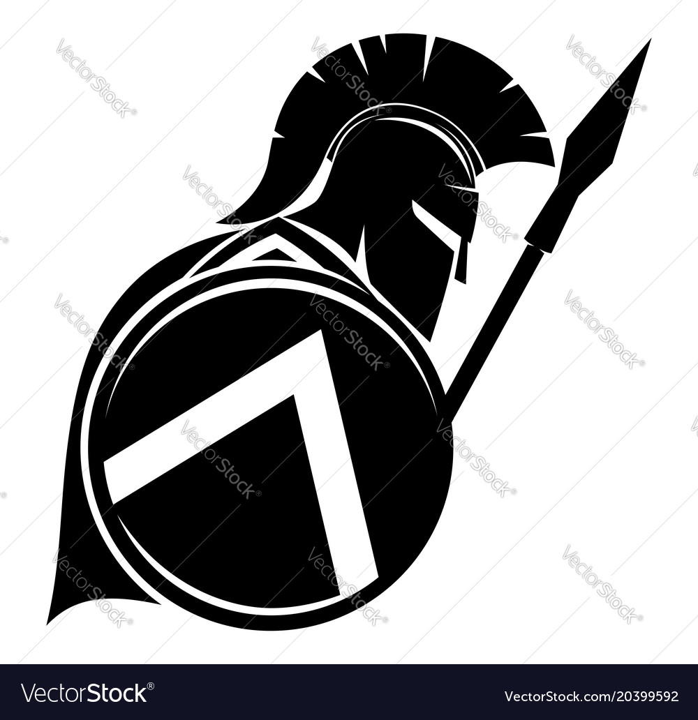 Warrior with shield and spear