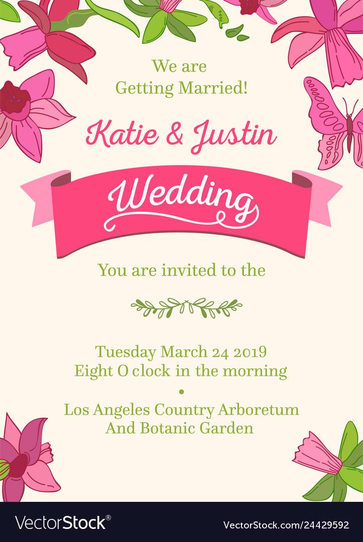 Wedding decorative design invitation card