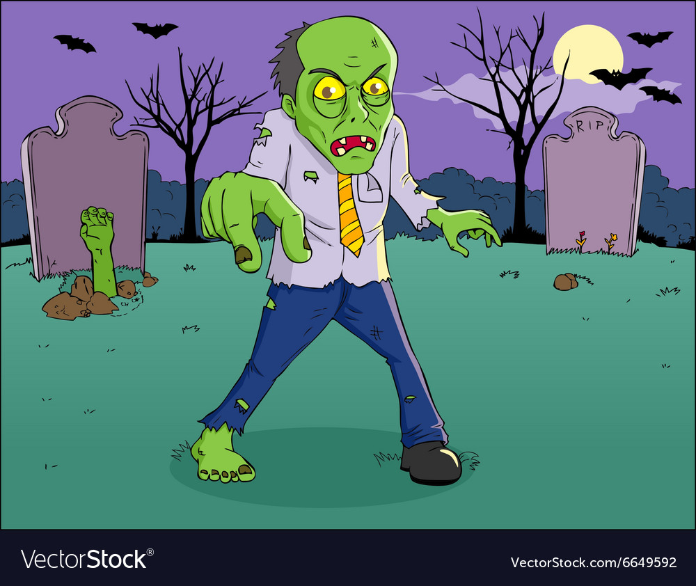 Zombie Cartoon vector image