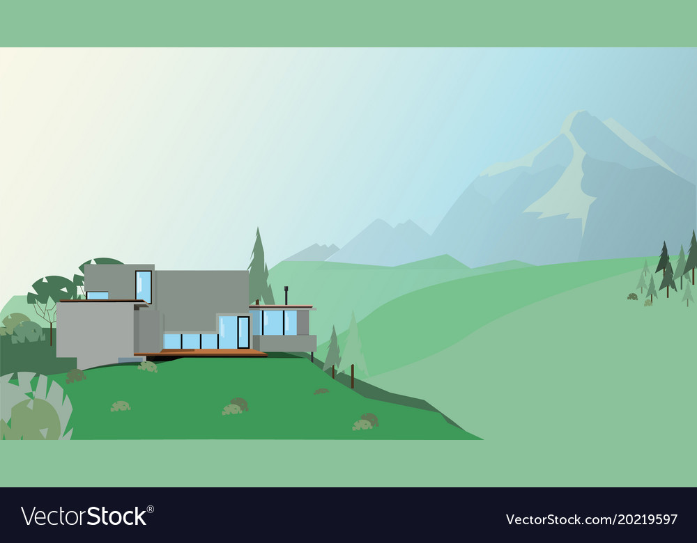 A house in the mountains
