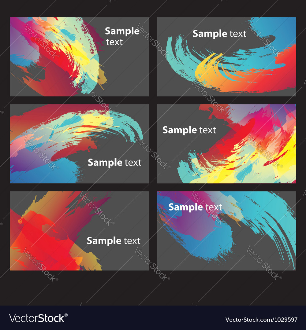 Abstract Paint Banners