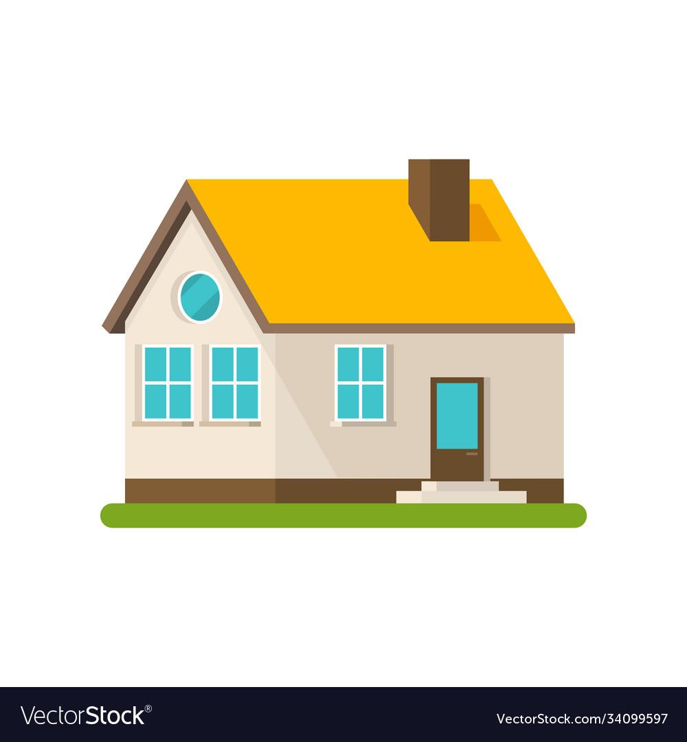 Flat house apartment building flat cartoon