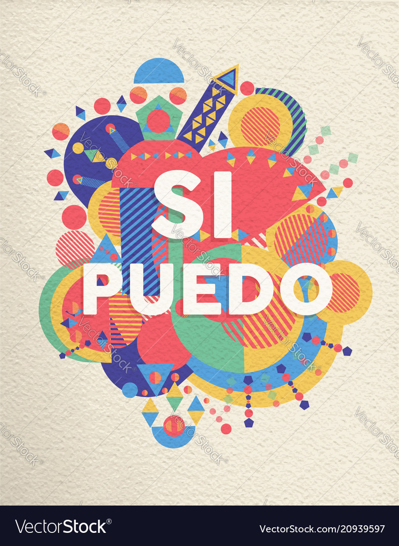 Yes i can spanish motivation quote poster