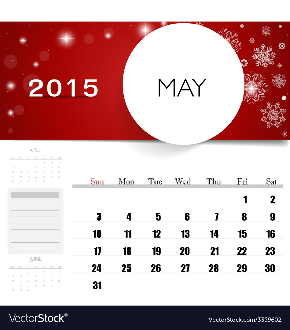 Free Downloadable Calendar Template 2015 from cdn3.vectorstock.com