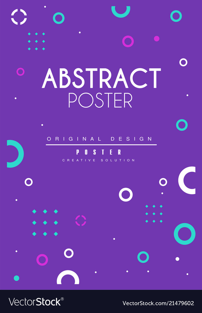 Abstract poster bright creative graphic design
