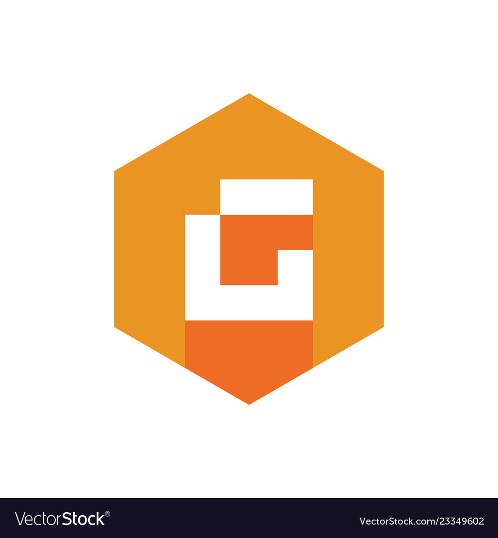 Abstract symbol of letter g alphabet logotype