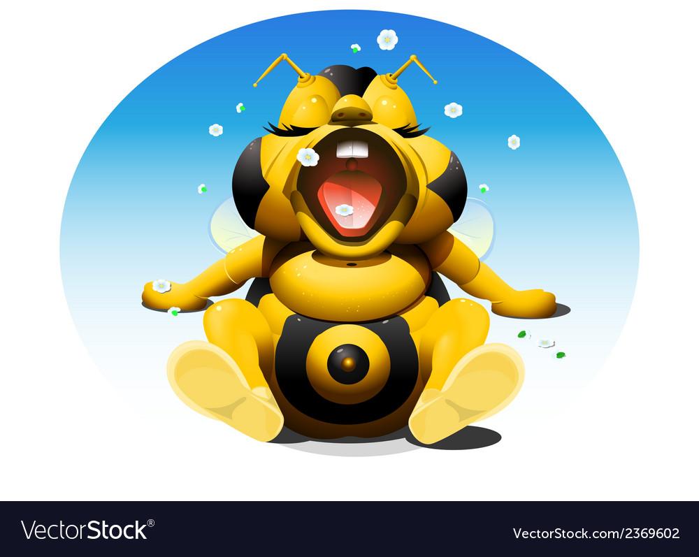 Baby bee 1 vector image