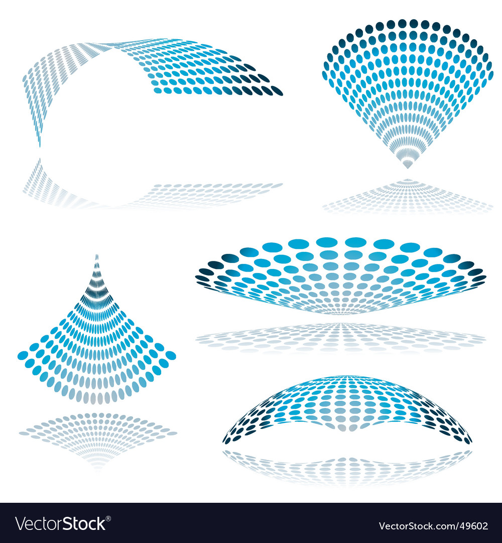Circle mesh twist vector image