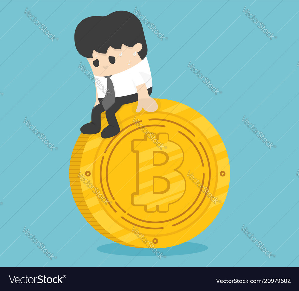 Concept businessman money down currency falling