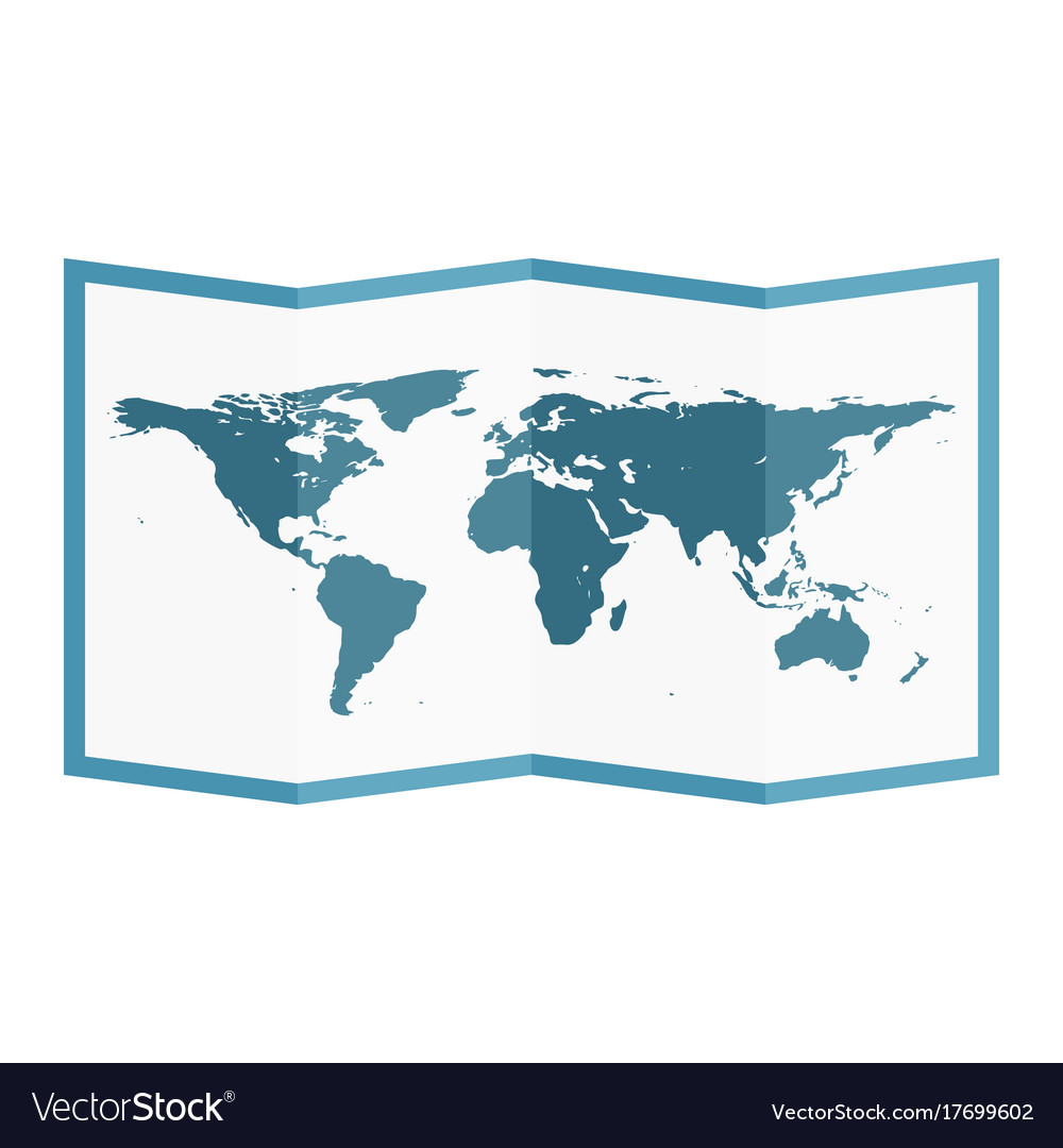 Folded world map flat style royalty free vector image folded world map flat style vector image gumiabroncs Gallery