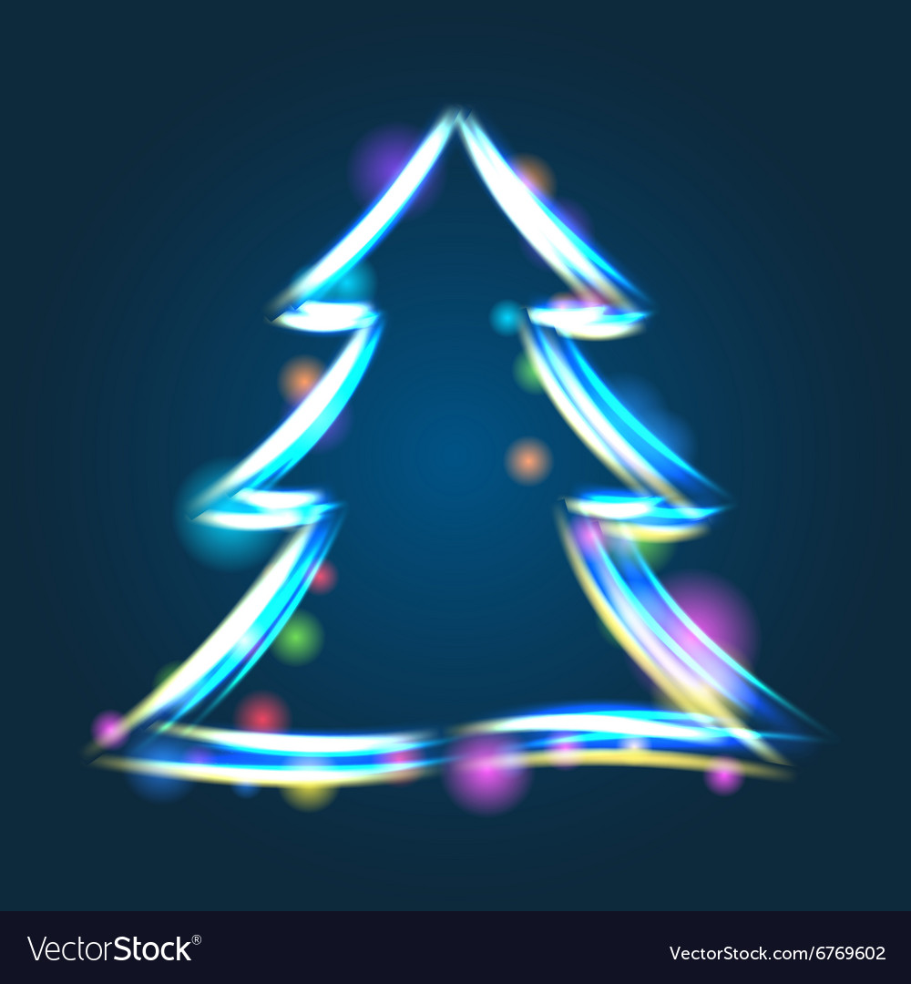 Glowing Christmas tree