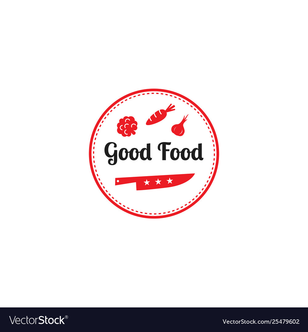 Good food logo design templategraphic knife and