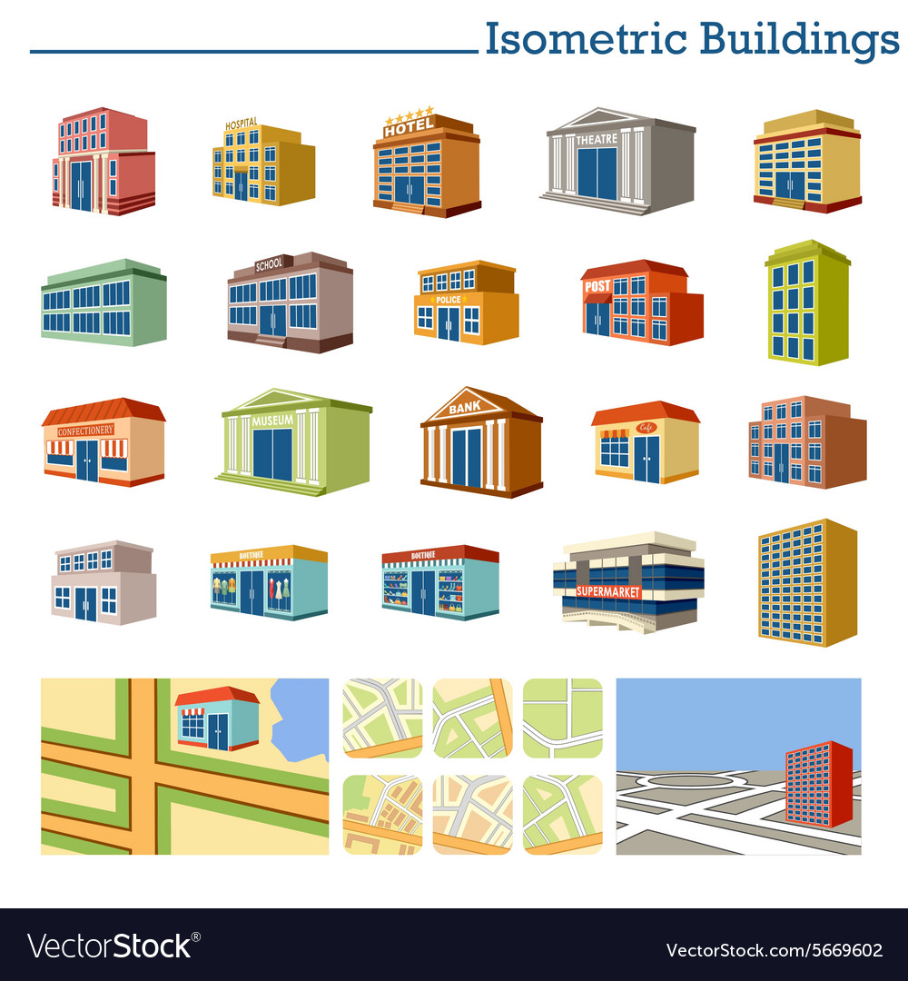 Isometric Buildings and maps