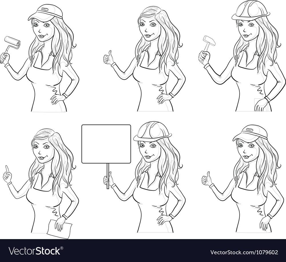 Set women professionals outline