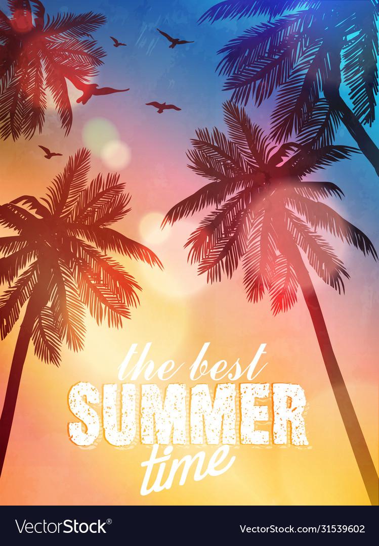 Summer beach inspiration card for wedding date
