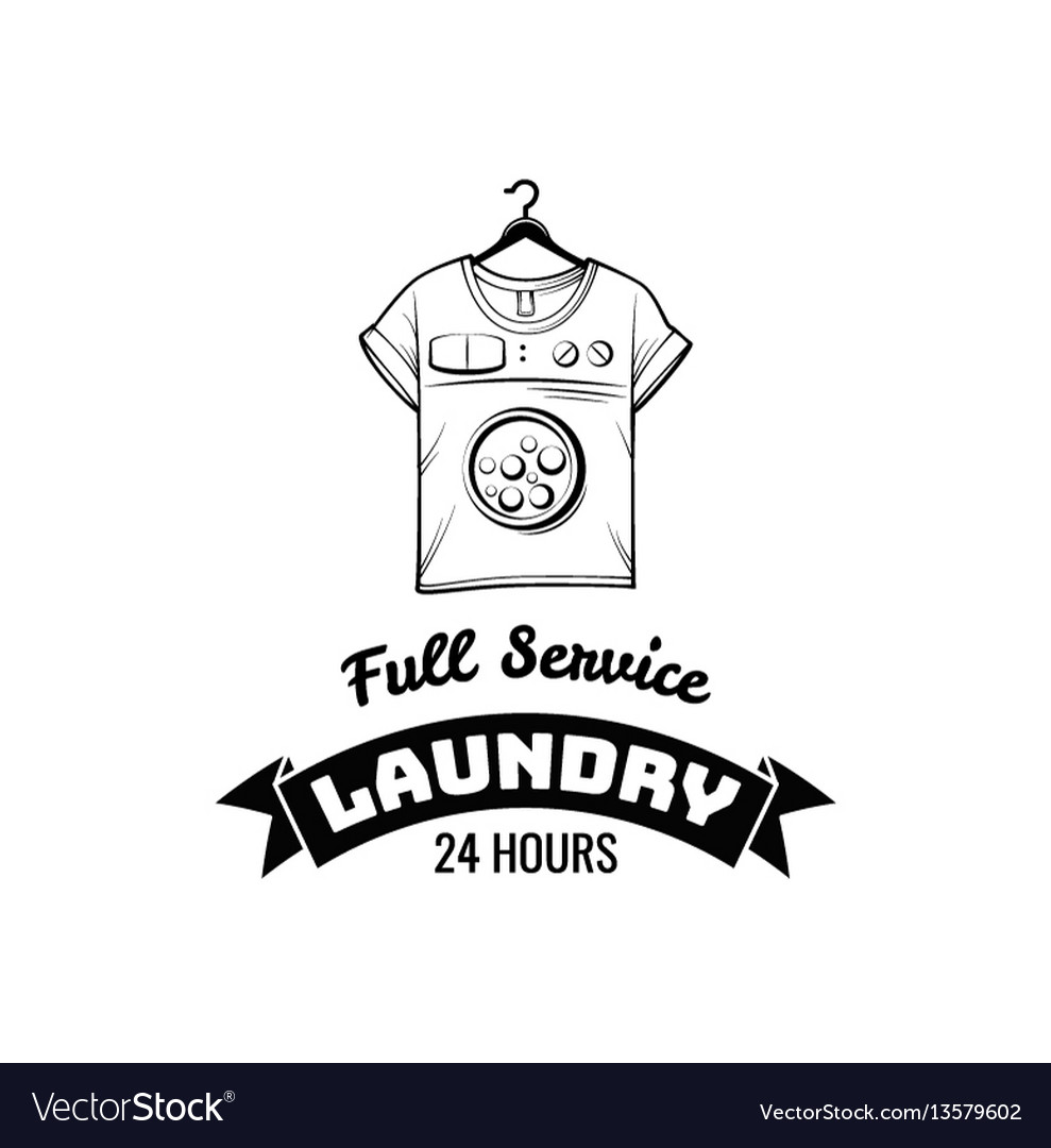 T-shirt machine concept laundry and dry cleaning