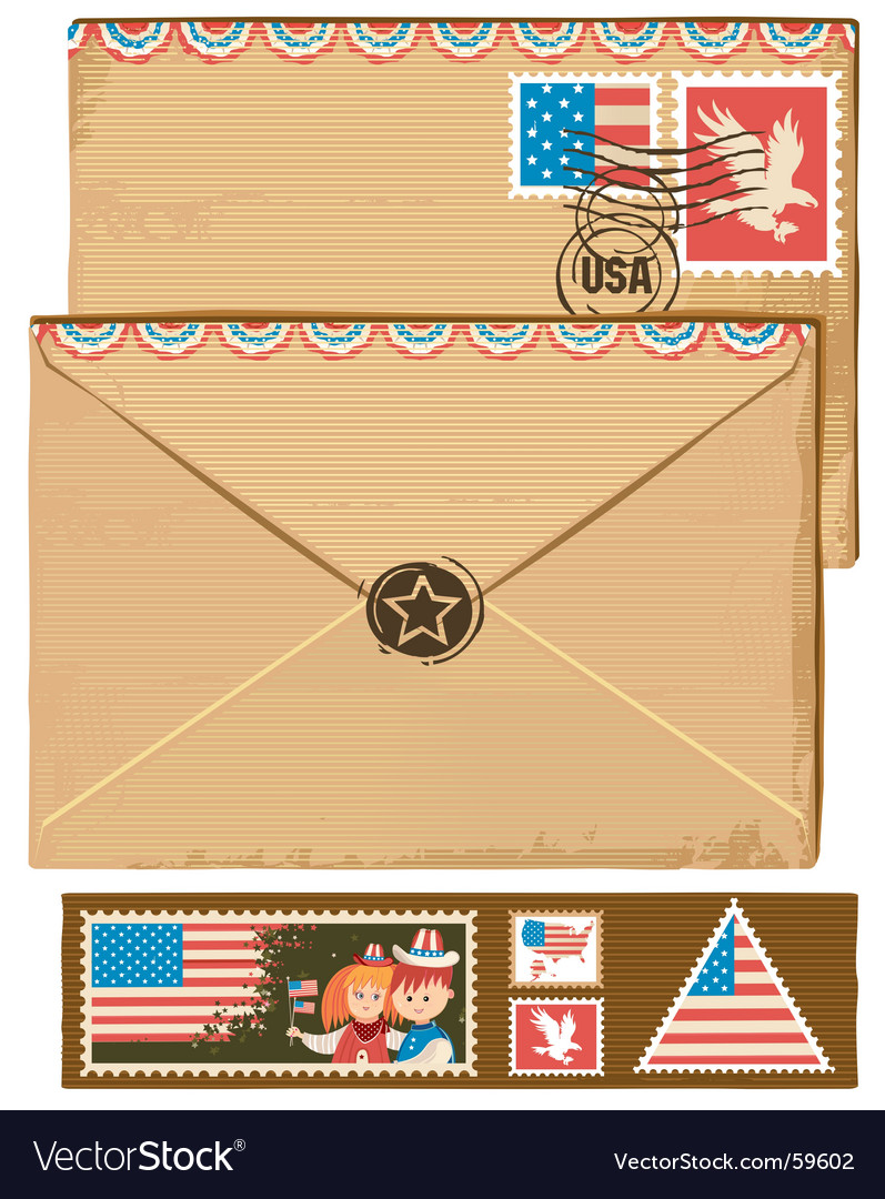 Usa envelope and stamps