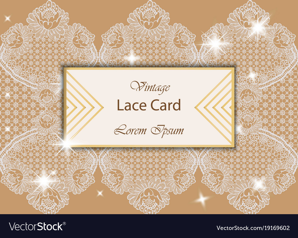 Vintage lace card delicate handmade vector image