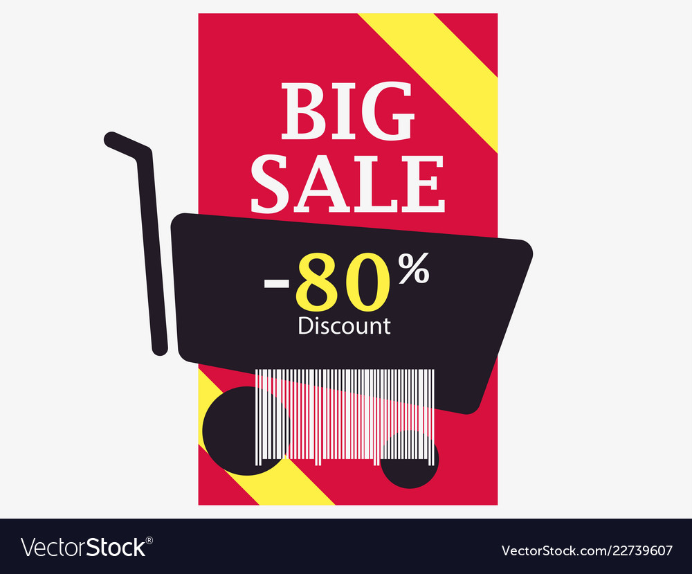 Big sale 80 percent discount barcode and shopping