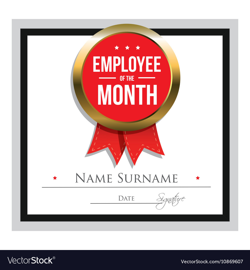It is a photo of Declarative Printable Employee of the Month Certificates
