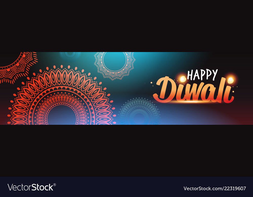 Happy diwali traditional indian lights hindu