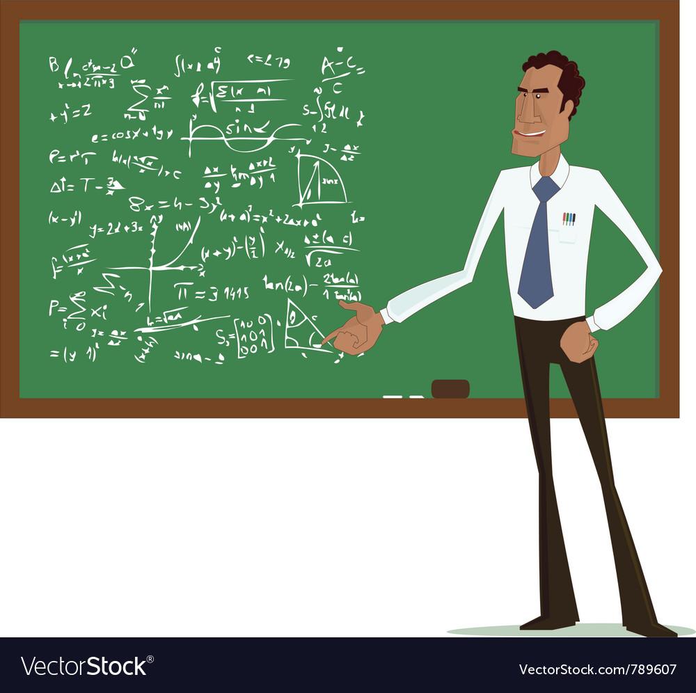Maths teacher Royalty Free Vector Image - VectorStock