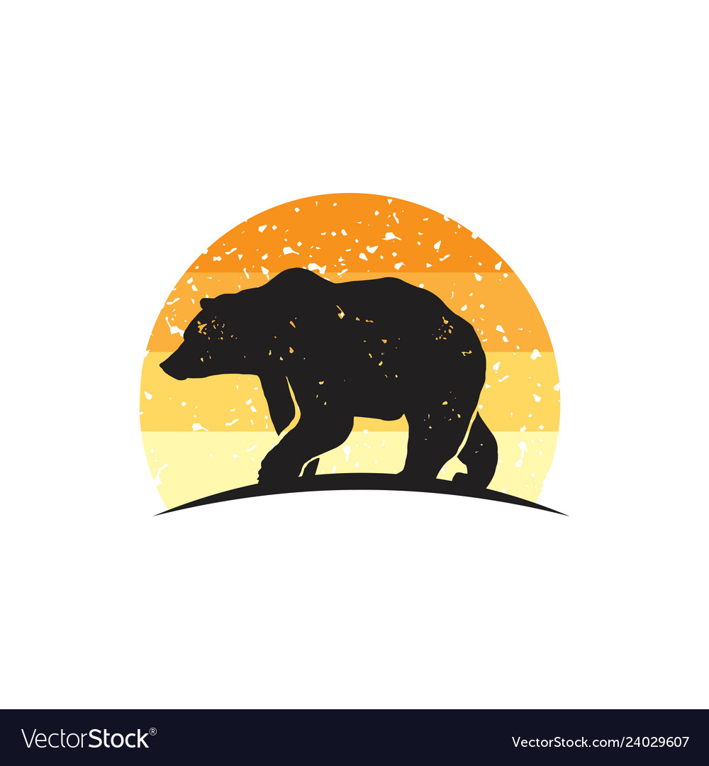 Rustic bear logo