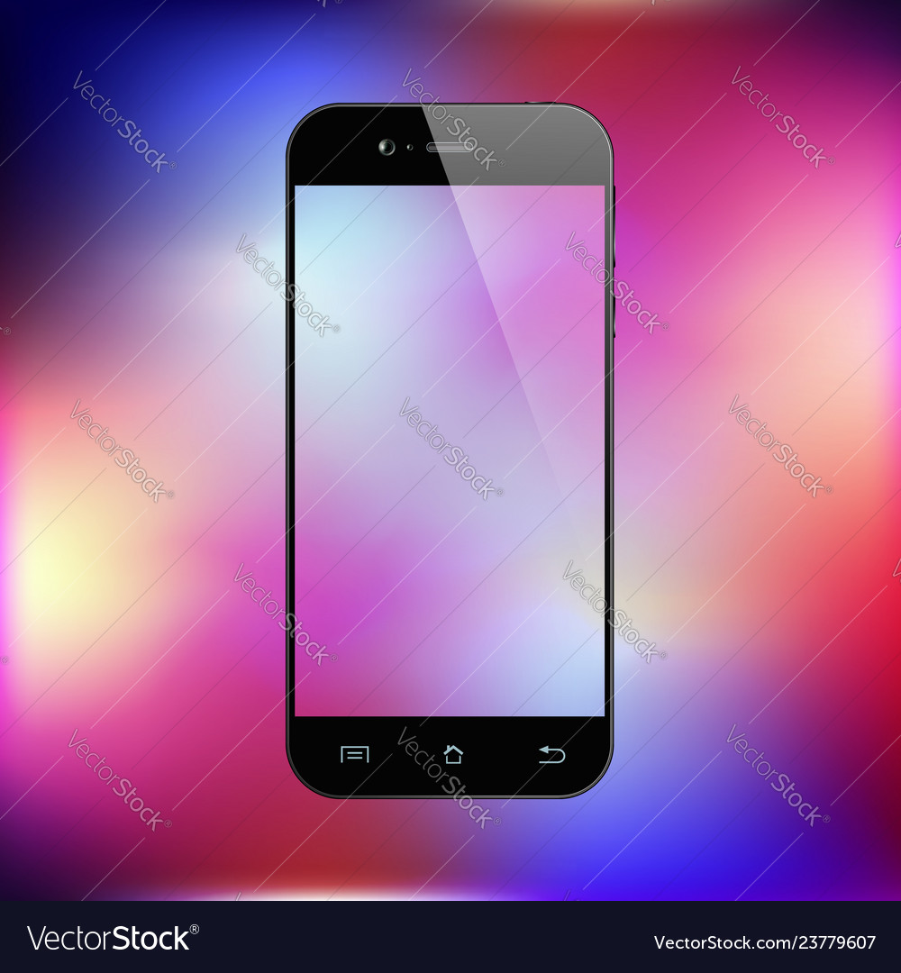 Smartphone on gradient background mobile phone