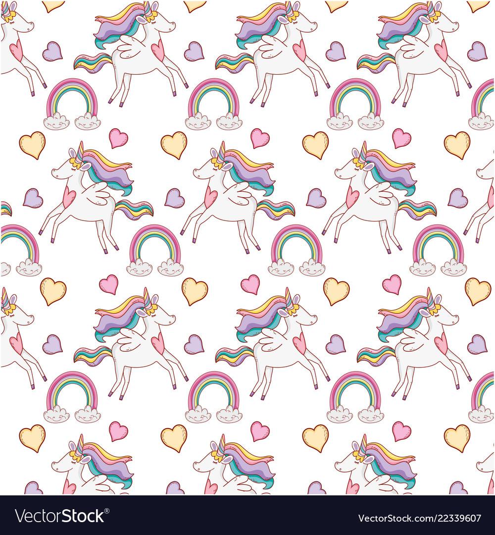 Unicorns pattern background