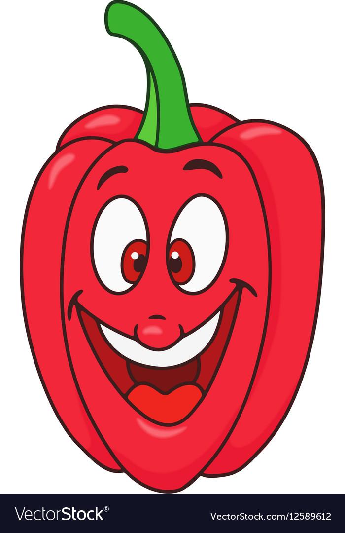 Fresh bell pepper cartoon vector image