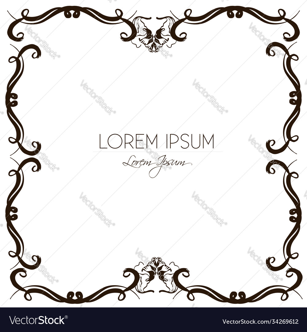 Hand drawn floral frame made in beautiful vector