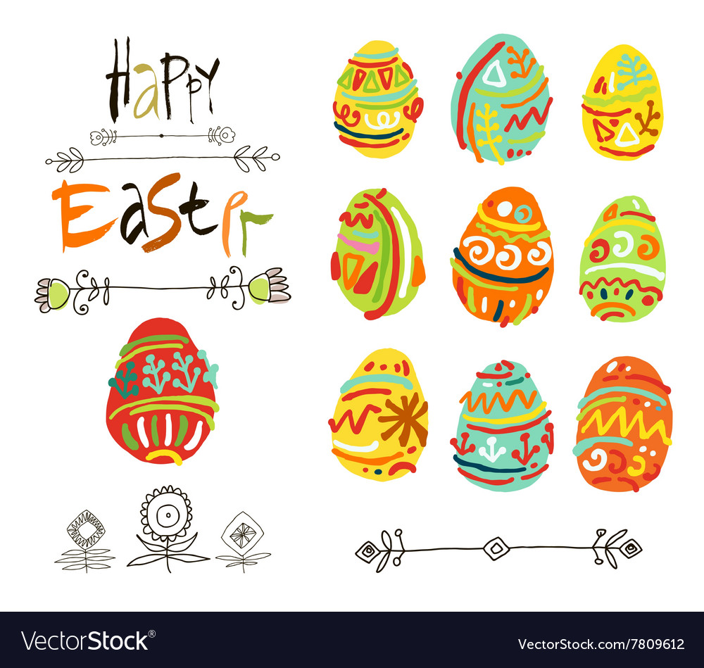 Happy Easter greeting card or display