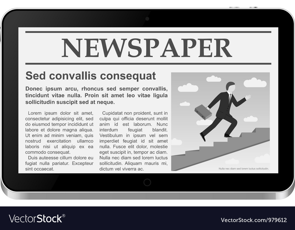 Tablet PC with online newspaper